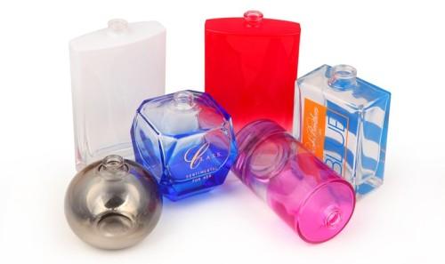 100ml perfume bottles wholesale, decorative empty glass bottles, 15mm neck with pump, cap | GP Bottles