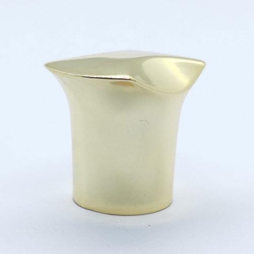 Custom glass perfume bottle design caps, zinc alloy gold electroplating, shiny and solid | GP Bottles