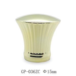 أغطية العطور المعدنية الذهبية تصميم غطاء zamac للبيع بالجملة لزجاجة زجاجية مقاس 15 مم | زجاجات GP