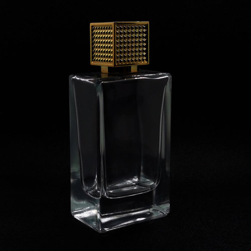 Beautiful glass perfume bottles, empty cologn bottle, classic square shape 100ml for men's perfume | GP Bottles