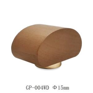 Tapón de madera para botella al por mayor, madera de haya natural, barniz lacado rojo intenso, para botella de vidrio de perfume FEA 15 | Botellas GP