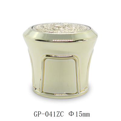 Golden bottle caps for luxury perfume packaging wholesale, FEA 15 pump sprayer suitable | GP Bottles