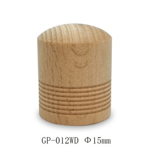 غطاء عطر خشبي بلون طبيعي أسطواني للبيع ، عنق الزجاجة 15 مم | زجاجات GP