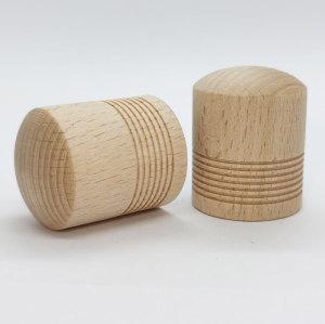 Cylinder-shaped natrual color wooden perfume cap on sale,15mm crimp bottleneck| GP Bottles
