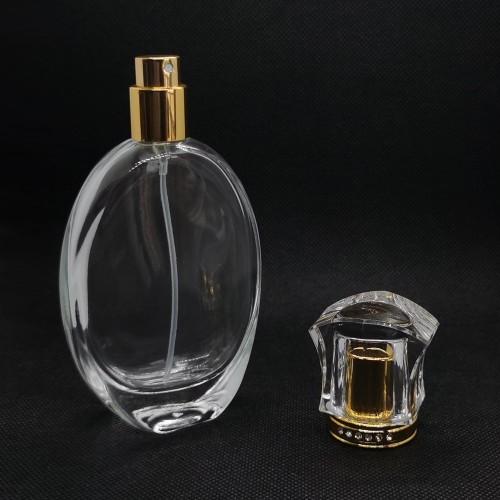 50 مل زجاجة عطر بالجملة   زجاجات العطور القابلة لإعادة التعبئة   زجاجة عطر فارغة   مضخة وغطاء بلاستيكي   تصنيع زجاجات GP