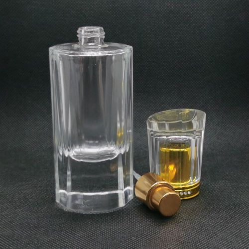 50ml stock glass perfume bottle wholesale | refillable perfume bottles | glass bottle for refillable fragrance | Pump and acrylic cap | GP Bottles manufacturing