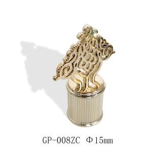 Flower pattern zamac perfume cap wholesale | zamak cap customization | zinc alloy cap supplier | perfume cap manufacturer | GP Botttle Manufacturing