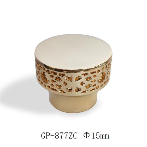 Debossed pattern zamac perfume caps wholesale | zamak perfume cap | zinc alloy cap | refine gold color plated | GP Bottles Manufacturing
