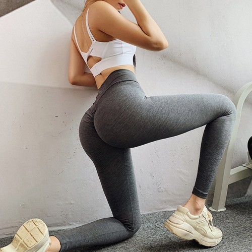 European and American hot sale new peach hip yoga pants high waist stretch tights fitness pants running pants