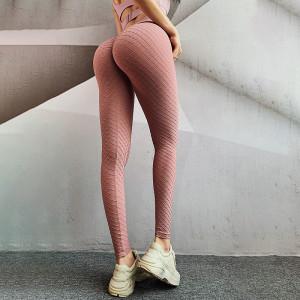 Seamless fitness pants, three-dimensional shaping hip-lifting tights, high-waisted hip pants