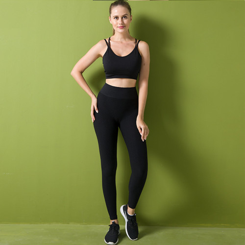 Honeycomb pants seamless knitted yoga pants