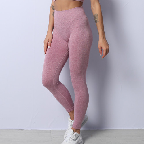 Seamless knitted hip wicking yoga pants