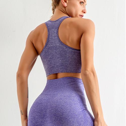 Seamless yoga pants small dotted jacquard cropped pants