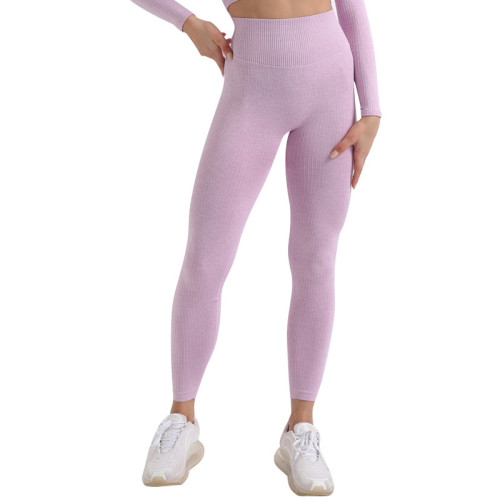 Seamless knit hip slim and quick-drying yoga pants