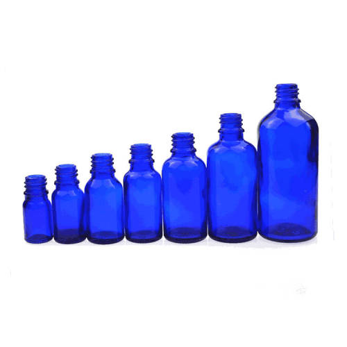 Blue Glass Bottles | Glass Essential Oil Bottles wiht Lids for Essential Oil, Cosmetic, Perfume, Tincture, Aromatherapy