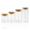 BoGlass Food Storage Jars wiht Airtight Bamboo Lids   Kitchen Glass Food Storage Containers for Pasta Coffee Flour Sugar Candy Cookie Spice Nuts
