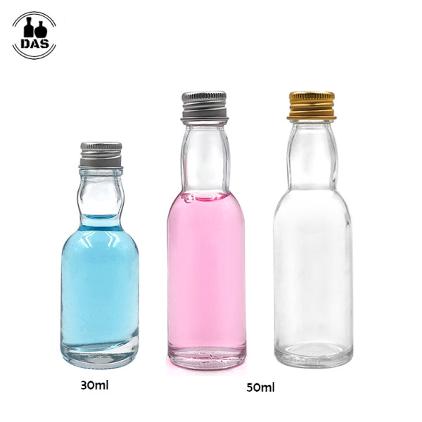 Glass Mini Liquor Bottles | Glass Alcohol Spirit Bottles with Aluminum Lids for Liquor Vodka Whisky Wine