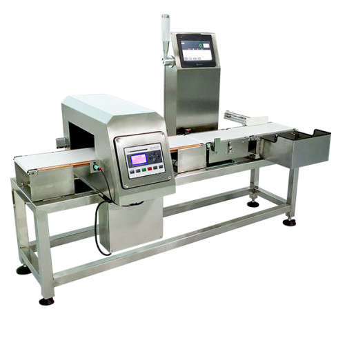 DCJ series checkweigher with metal detection machine