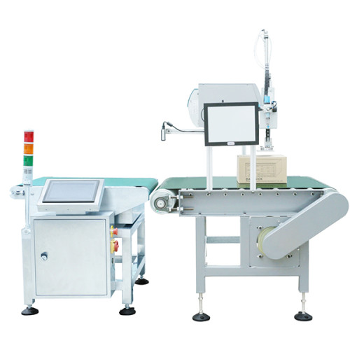 checkweigher with labeling machine