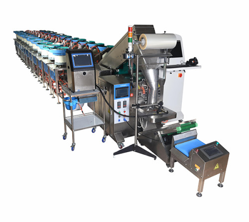 Hardware packing machine with counting function