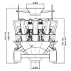 DCT series multihead weigher with hight quality