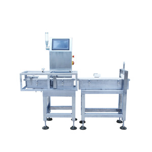 High speed check weigher with rejector