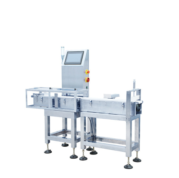 High speed belt checkweigher detected small products