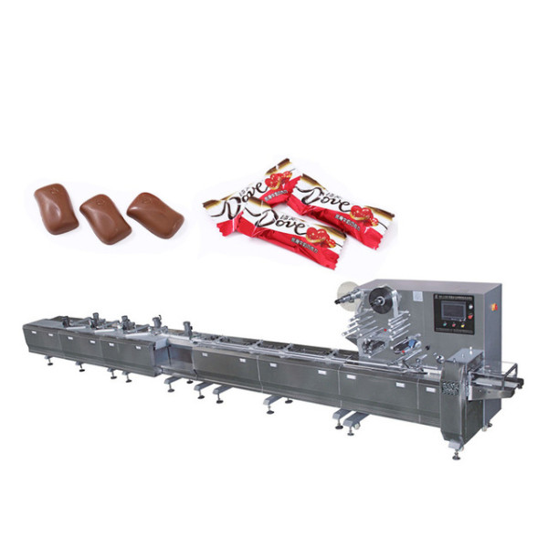 Pillow type packaging machine for food packaging