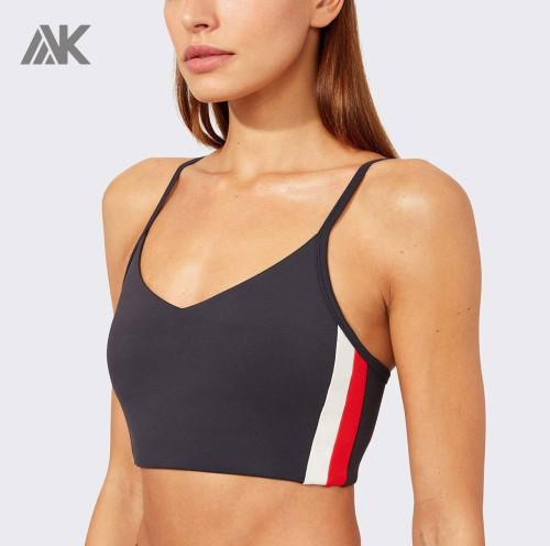 Adjustable Straps V-Neck Wholesale Sports Bras With Built in Padding-Aktik