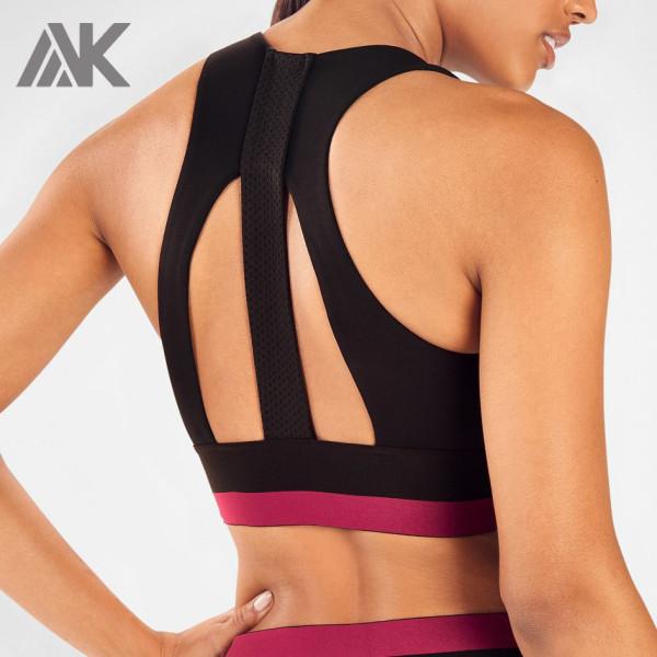 Private Label High Neck Medium Support Yoga Bulk Sports Bras Outfit-Aktik
