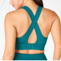 Private Label Wireless Criss Cross Back High Support Sports Bra with Clasp-Aktik