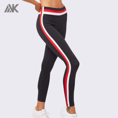 Custom Mid-waisted Best Shaping Color Block Leggings for women-Aktik