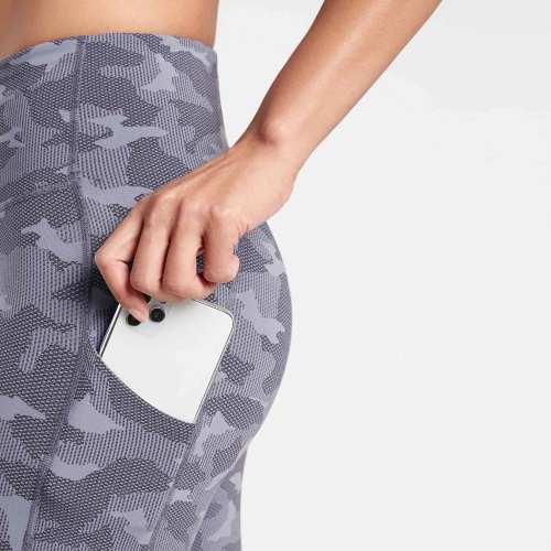 Private Label Wholesale Plus Size Compression Printed Leggings with Pockets-Aktik