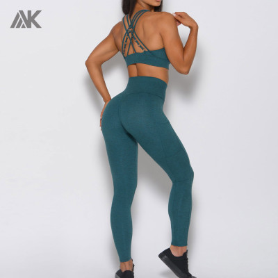 Private Label Wholesale Workout Clothes Matching Sports Bra and Leggings-Aktik