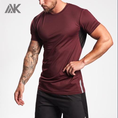 Mens Short Sleeve Slim Fit Custom Dri Fit Shirts Wholesale with Mesh-Aktik