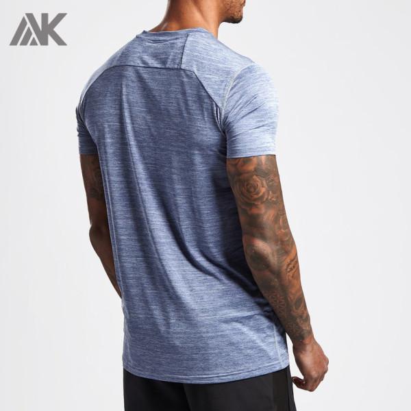 Custom Gym Shirts Mens Short Sleeve Crew Neck Dri Fit Shirts Wholesale-Aktik