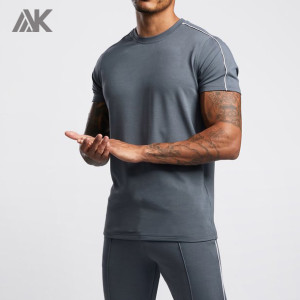 Custom Mens Short Sleeve Crew Neck Cotton High Quality T Shirts Bulk-Aktik
