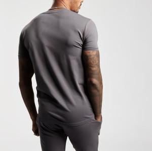 Custom Short Sleeve Crew Neck High Quality Soft Cotton T Shirts for Mens-Aktik
