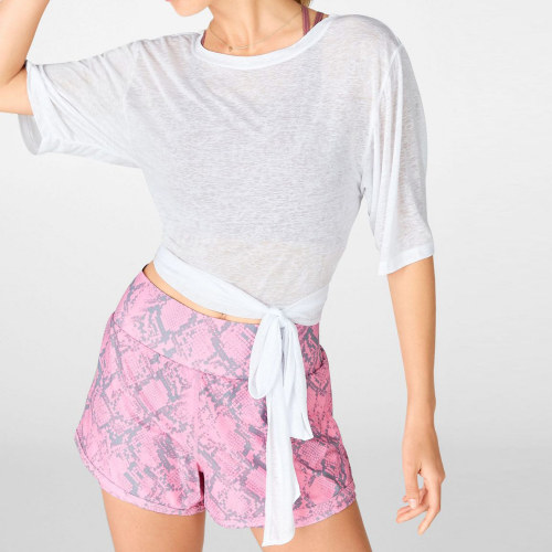Private Label Womens Bulk Custom T Shirts Short Sleeve White Crop T Shirt-Aktik