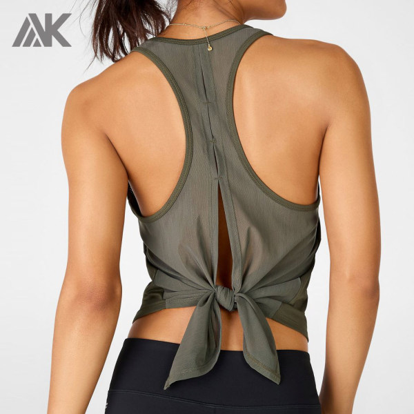 Womens Custom Tank Tops Recerback Mesh Bodybuilding Tank Tops Wholesale-Aktik