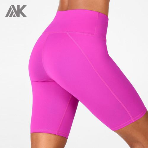 Custom Womens High Waisted Biker Shorts Women with Printing-Aktik