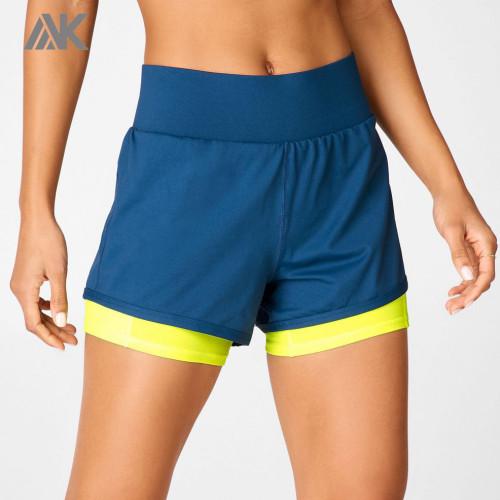 Custom Quick Dry Wholesale Women's Athletic Shorts with Phone Pocket-Aktik