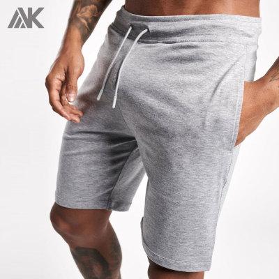 Custom High Waisted Cotton Fleece Sweat Shorts Mens Wholesale with Pocket-Aktik