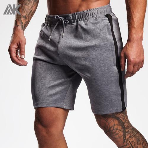 Custom Mens Elastic Waist Cotton Gym Shorts Men Wholesale with Drawstring-Aktik