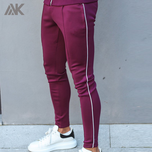 Private Label Wholesale Slim Fit Best Mens Jogger Pants Outfit with Piping-Aktik