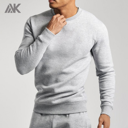Private Label Wholesale Men's Round Neck Cotton Fleece Custom Sweatshirts-Aktik