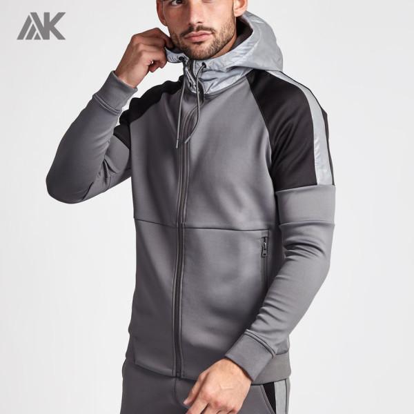 Private Label Wholesale Mens Custom Best Zip Up Hoodies with Zip Pockets-Aktik