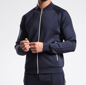 Custom Mens Slim Fit Full Zip Up Wholesale sweatsuits with Zip Pockets-Aktik