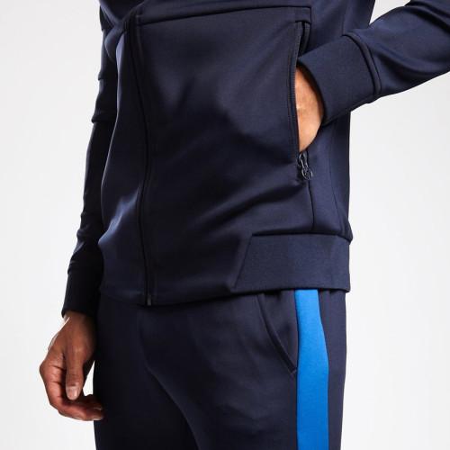 Wholesale Mens Full Zip Up Raglan Sleeve Custom Tracksuits with Zip Pocket-Aktik