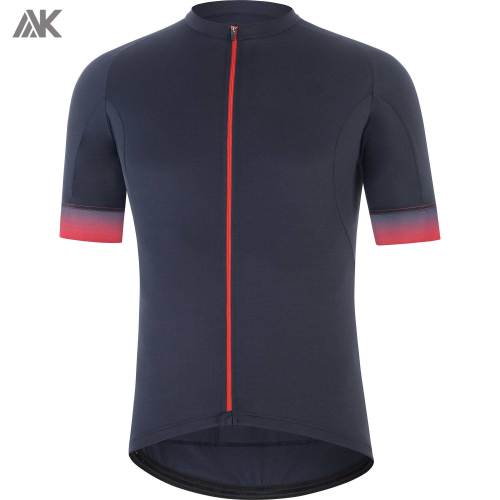 Private Label Full Zip Mesh Performance Mens Custom Cycling Apparel-Aktik